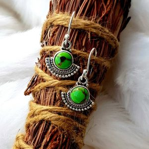Green Turquoise Earrings