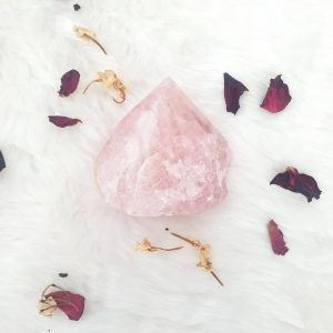 Rose Quartz Cut Base Point