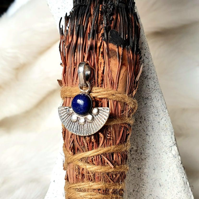 Lapis Lazuli Fan Pendant