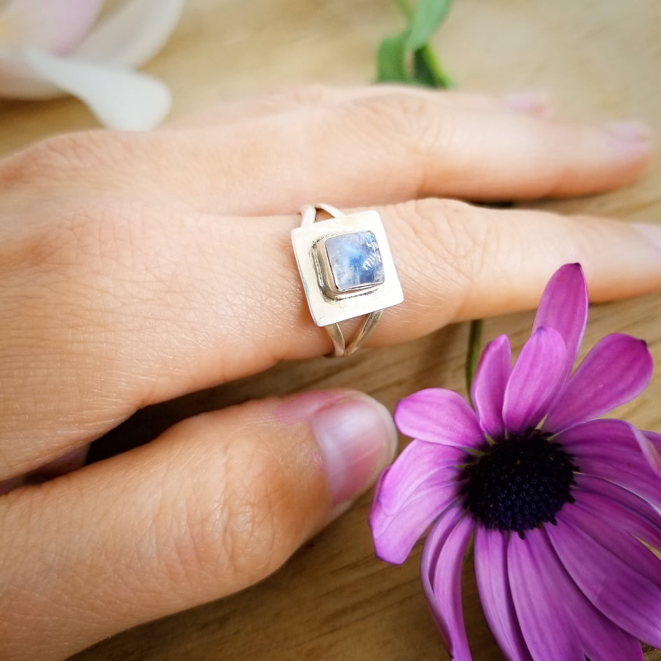 Moonstone Divinity Ring