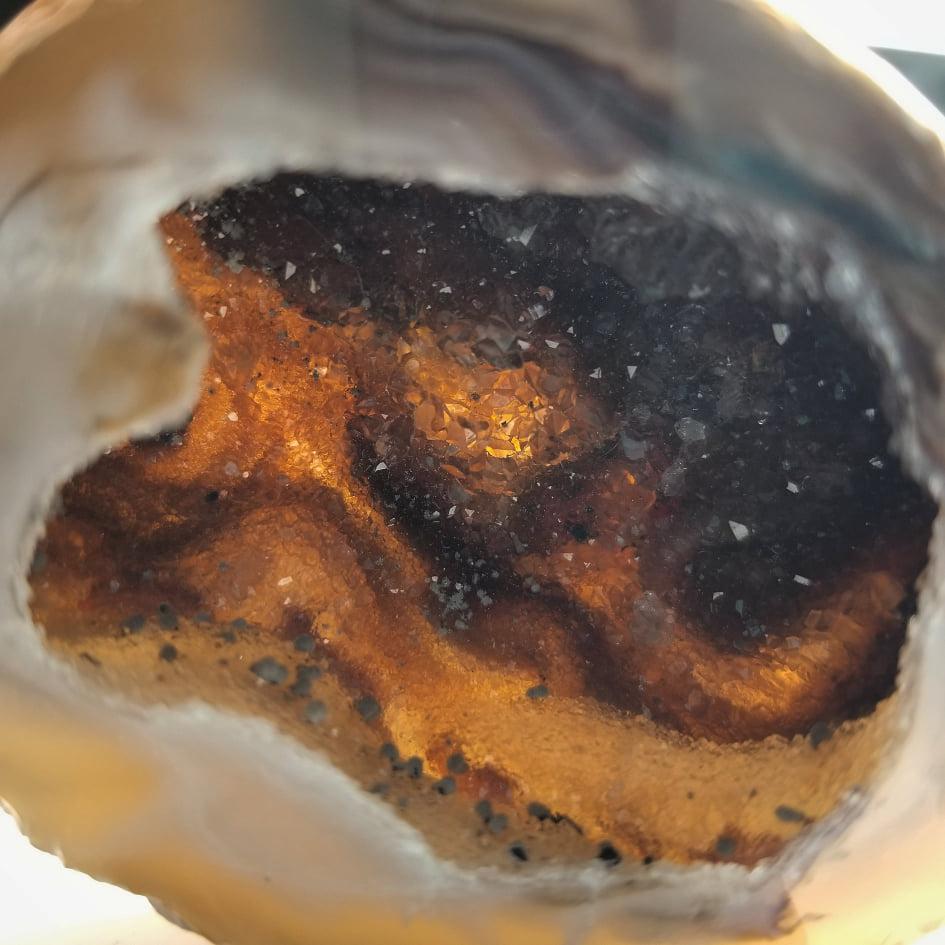 Orange Agate Pot