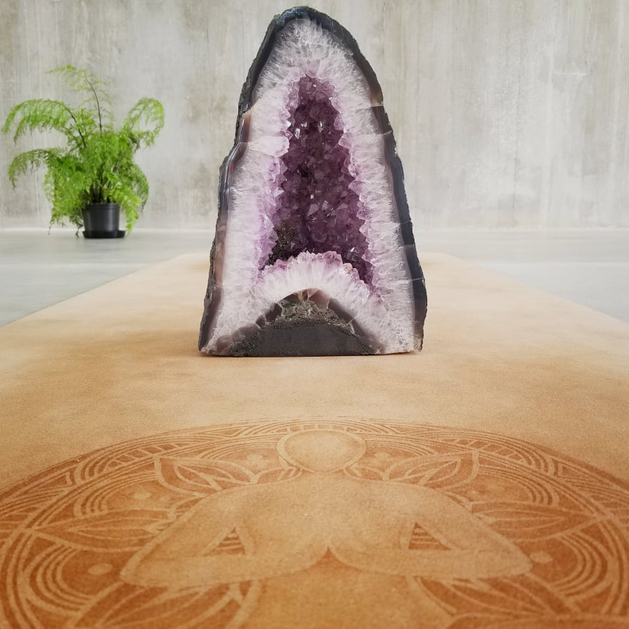 Violet Amethyst Geode Tower
