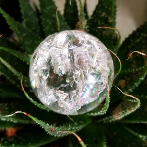 Crackle Quartz Sphere