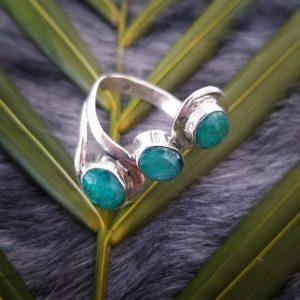 Emerald Trinity Ring