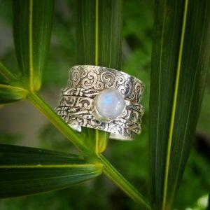 Moonstone Meditation Ring