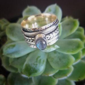 Labradorite Meditation Ring