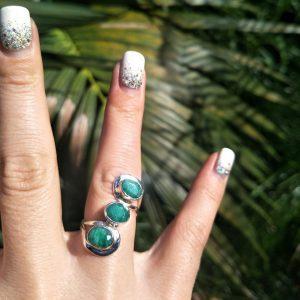 Deep Emerald Trinity Ring