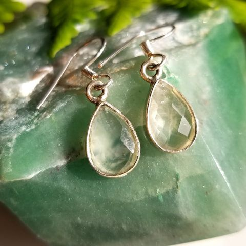 Green Prehnite Earrings