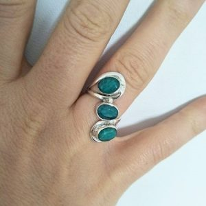 Light Emerald Trinity Ring