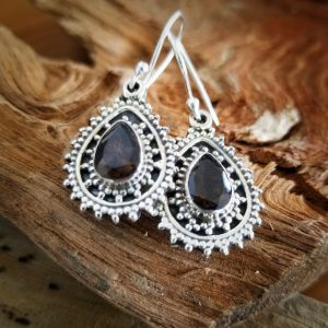 Smoky Quartz Aura Earrings