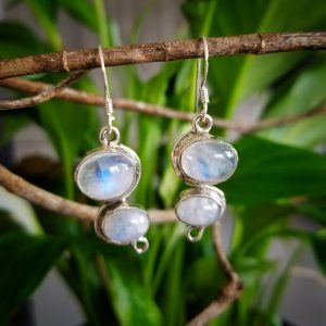 Moonstone Rain Earrings
