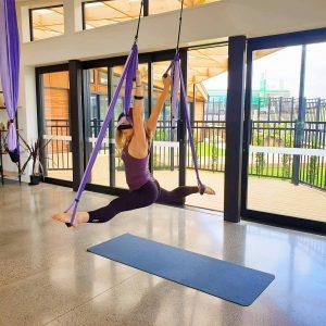 Antoinette Aerial Yoga Swing Splits