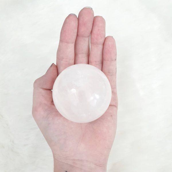 White Calcite Sphere